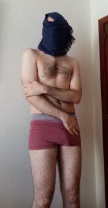 Alstaf stripped to his underwear